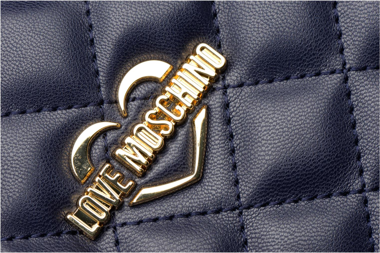 Sacs à main Love Moschino Cabas Super Quilted Bleu vue gauche