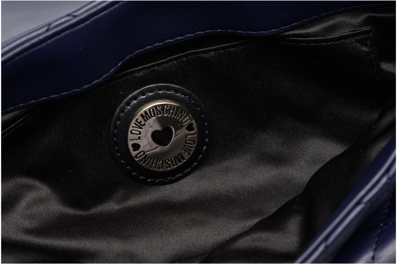 Sacs à main Love Moschino Pochette Chaine Quilted Bleu vue derrière