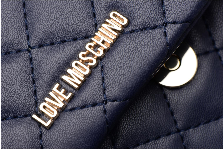 Sacs à main Love Moschino Pochette Chaine Quilted Bleu vue gauche