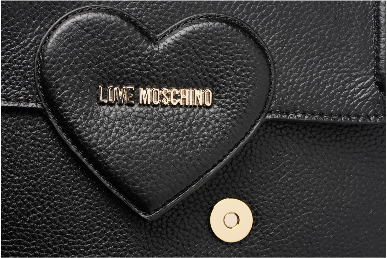 Sacs à main Love Moschino Crossbody Large Sangle Heart & Studs Noir vue gauche