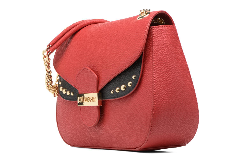 Sacs à main Love Moschino Porté épaule Double Flap Rouge vue portées chaussures