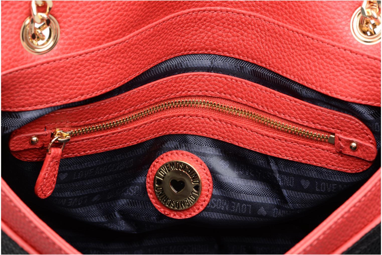 Sacs à main Love Moschino Porté épaule Double Flap Rouge vue derrière