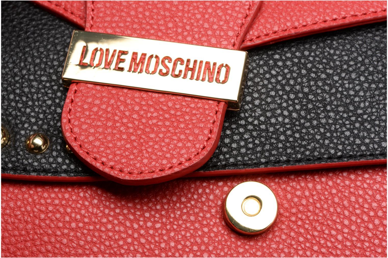 Sacs à main Love Moschino Porté épaule Double Flap Rouge vue gauche