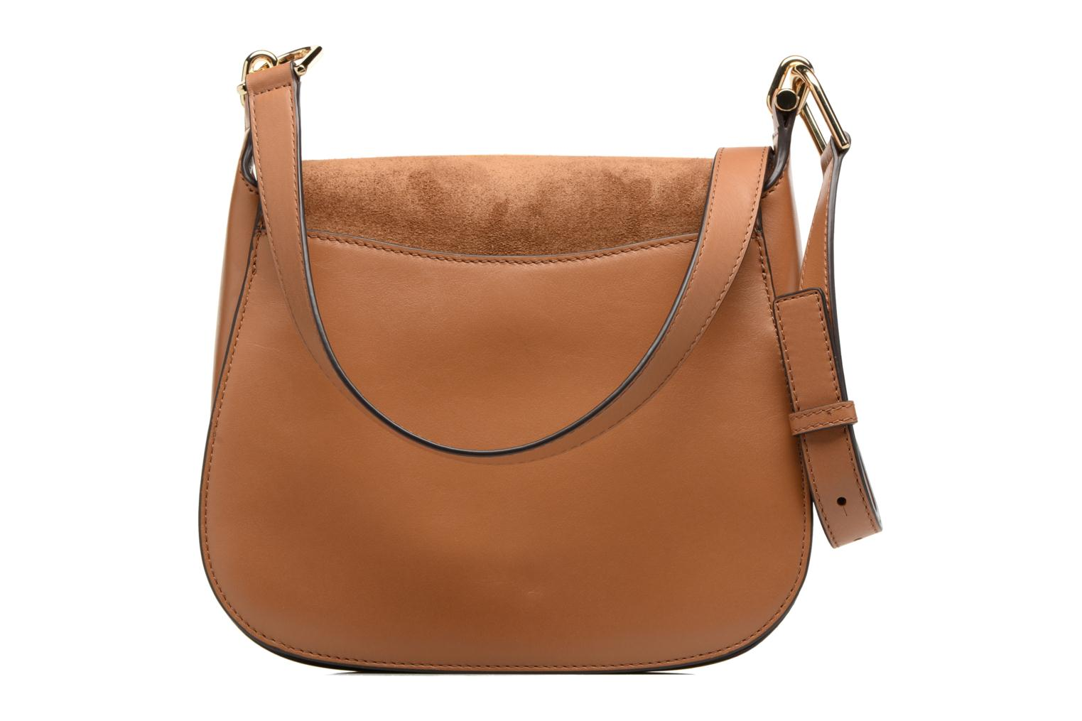 Bolsos de mano Michael Michael Kors Delfina LG Saddle Bag Marrón vista de frente