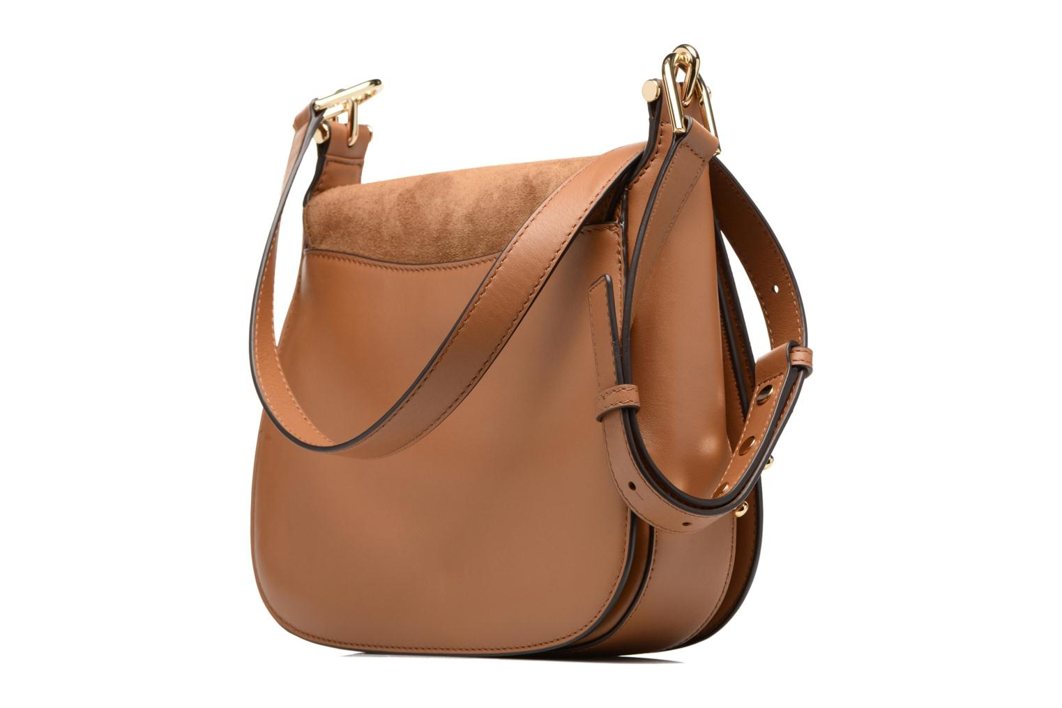Bolsos de mano Michael Michael Kors Delfina LG Saddle Bag Marrón vista lateral derecha