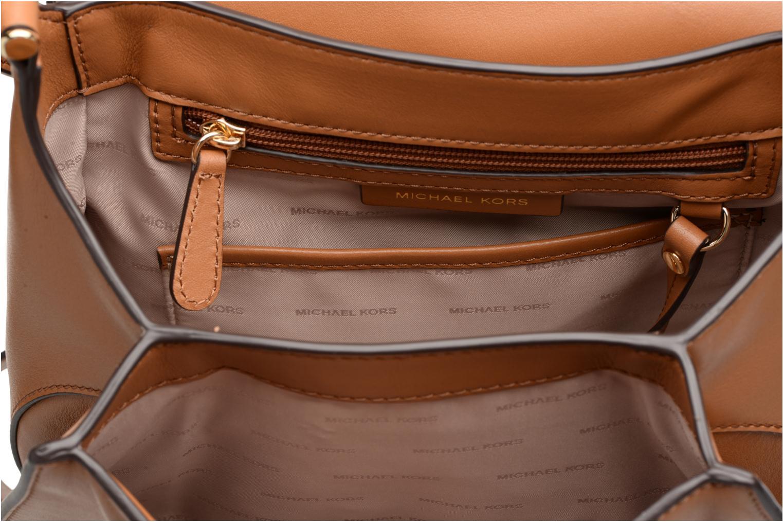 Sacs à main Michael Michael Kors Delfina LG Saddle Bag Marron vue derrière