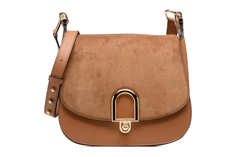 Sacs à main Michael Michael Kors Delfina LG Saddle Bag Marron vue détail/paire