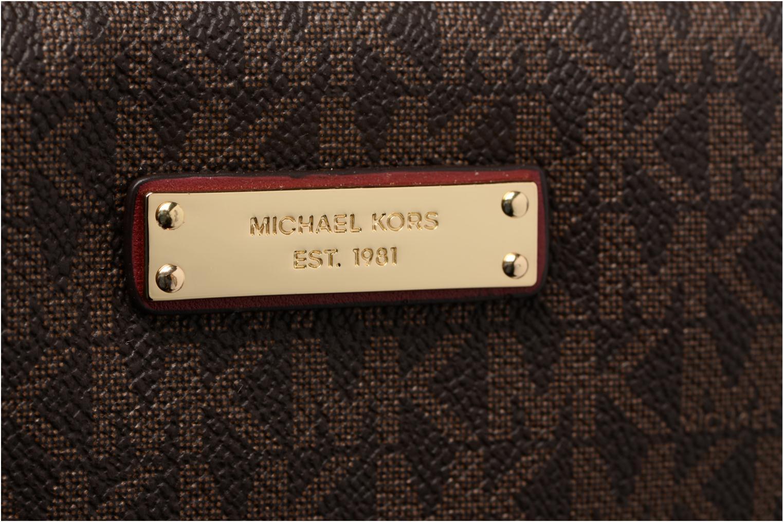 Sacs à main Michael Michael Kors LG EW Crossbody Marron vue gauche