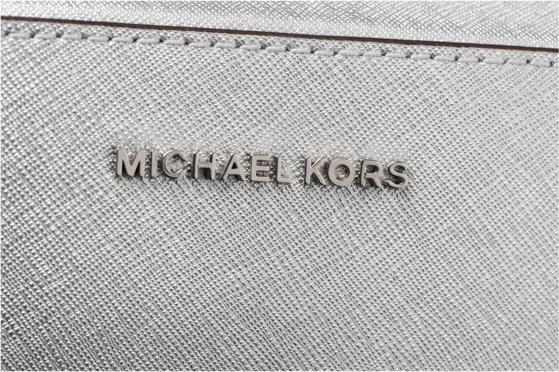 Sacs à main Michael Michael Kors LG EW Crossbody Argent vue gauche