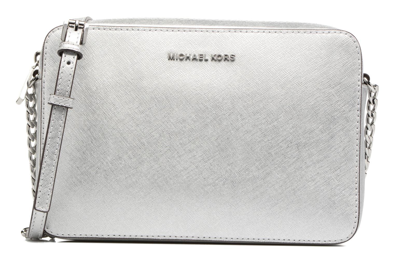 Sacs à main Michael Michael Kors LG EW Crossbody Argent vue détail/paire