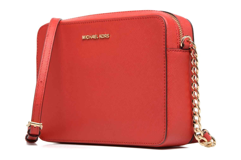 Bolsos de mano Michael Michael Kors LG EW Crossbody Rojo vista del modelo