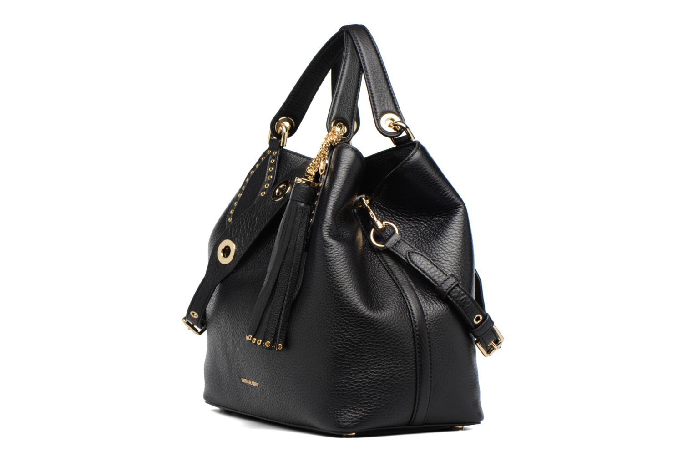 Sacs à main Michael Michael Kors Brooklyn LG Grab Bag Noir vue portées chaussures