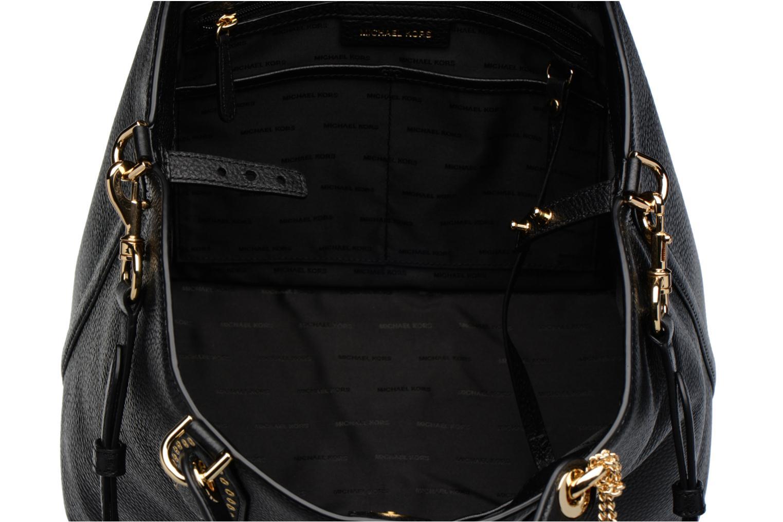 Sacs à main Michael Michael Kors Brooklyn LG Grab Bag Noir vue derrière