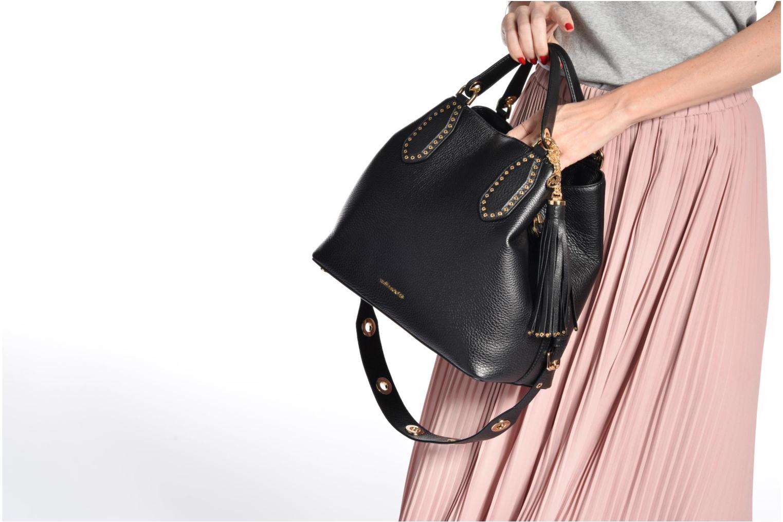 Sacs à main Michael Michael Kors Brooklyn LG Grab Bag Noir vue haut