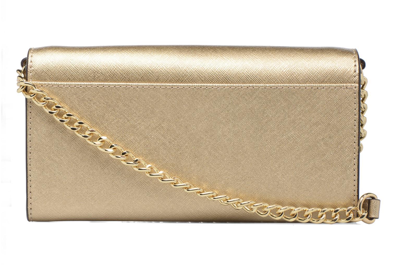 Sacs à main Michael Michael Kors Jet Set Wallet on a chain Or et bronze vue face
