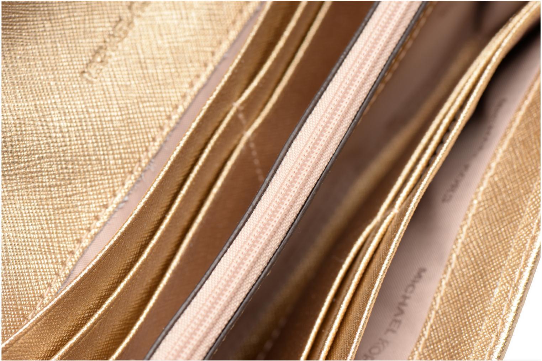 Bolsos de mano Michael Michael Kors Jet Set Wallet on a chain Oro y bronce vistra trasera