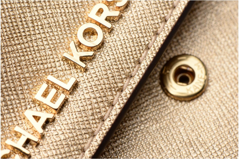 Bolsos de mano Michael Michael Kors Jet Set Wallet on a chain Oro y bronce vista lateral izquierda