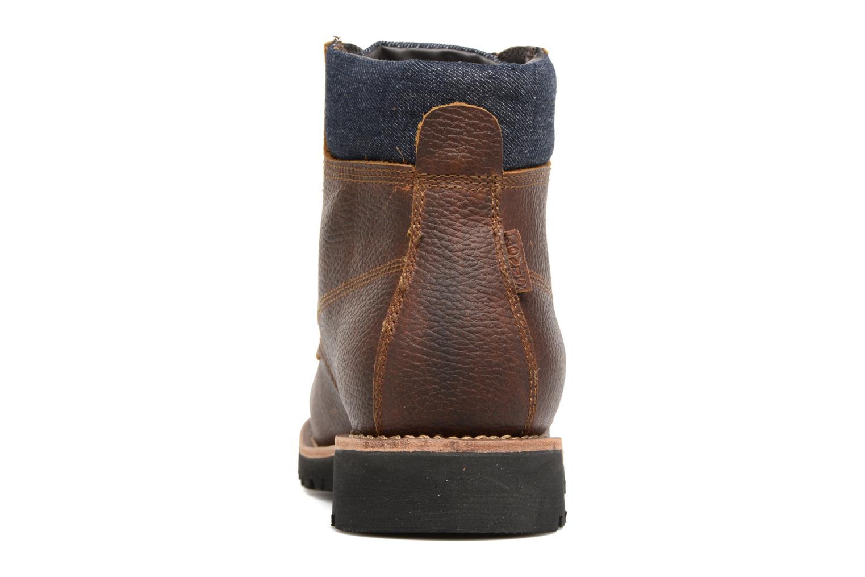 Bottines et boots Levi's Jackson Marron vue droite