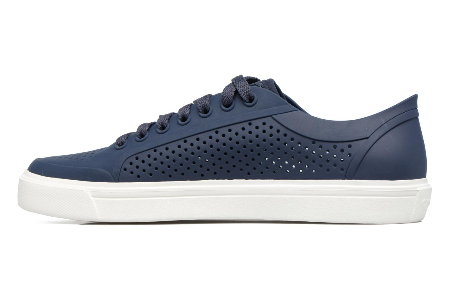 Baskets Crocs Citilane Roka Court Bleu vue face