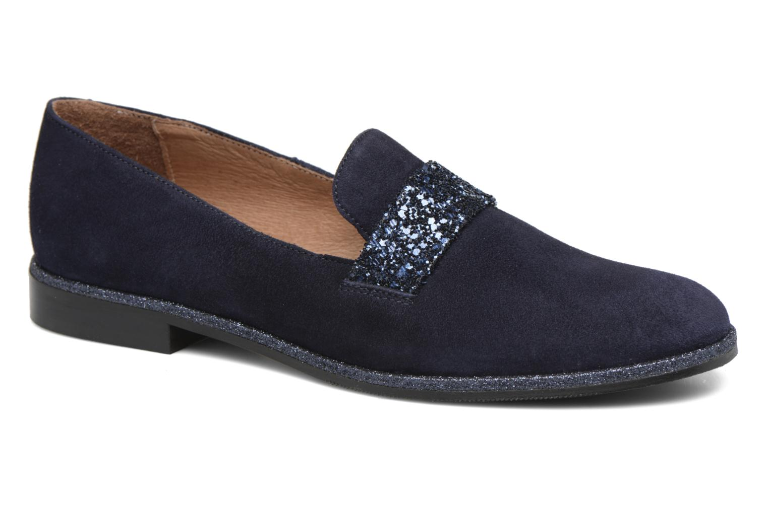 Loafers Georgia Rose ESTELLA Blue detailed view/ Pair view