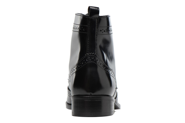 Bottines et boots Dune London Quota Noir vue droite