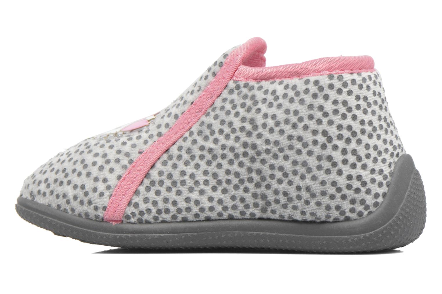 Chaussons Hello Kitty Blanca Gris vue face