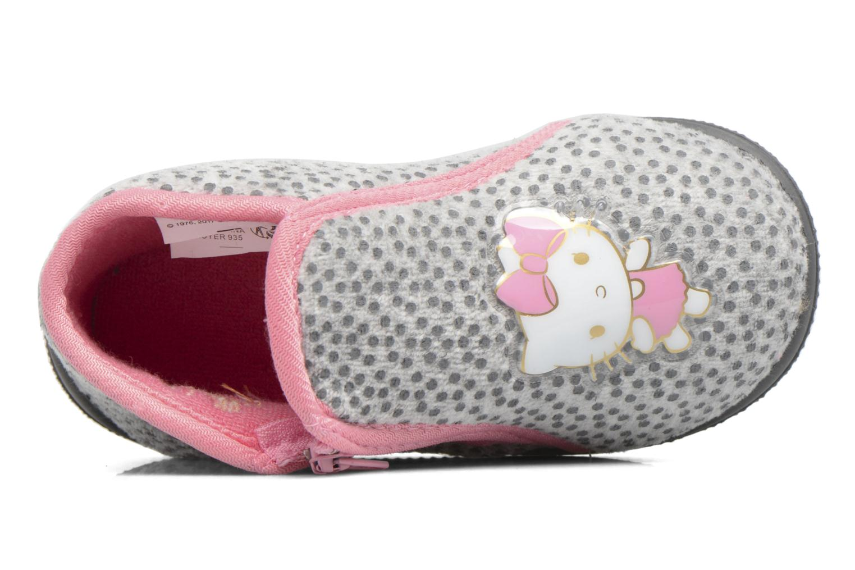 Chaussons Hello Kitty Blanca Gris vue gauche
