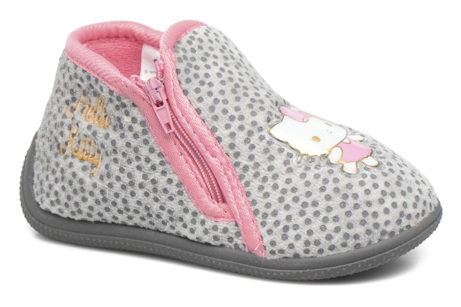 Chaussons Hello Kitty Blanca Gris vue détail/paire