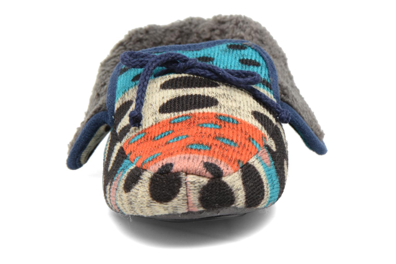 Chaussons Ruby Brown Whoopy Multicolore vue portées chaussures