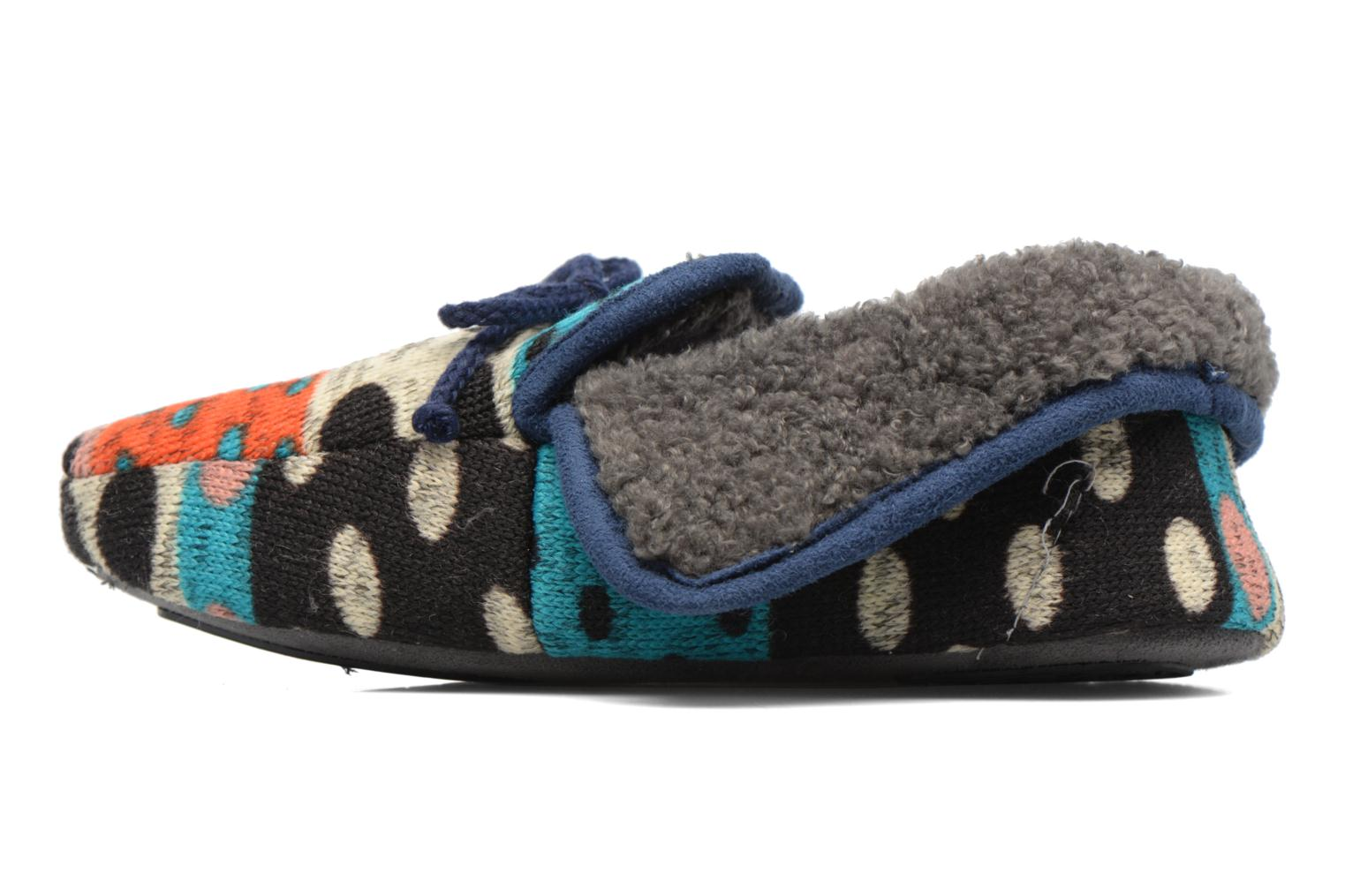 Chaussons Ruby Brown Whoopy Multicolore vue face