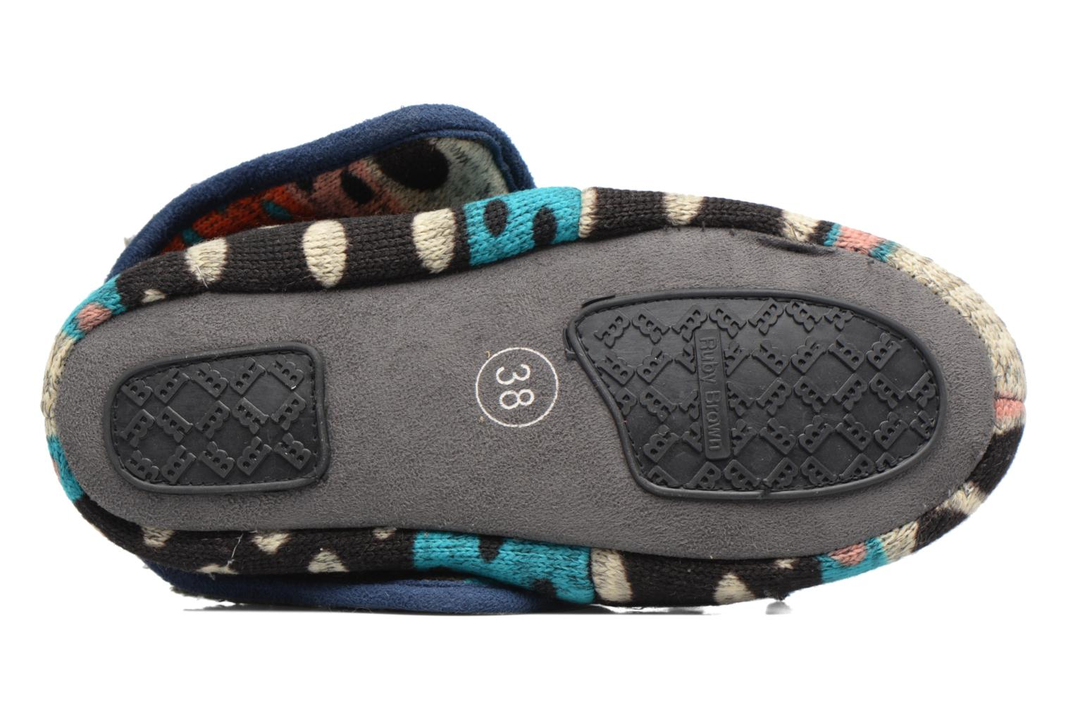 Chaussons Ruby Brown Whoopy Multicolore vue haut
