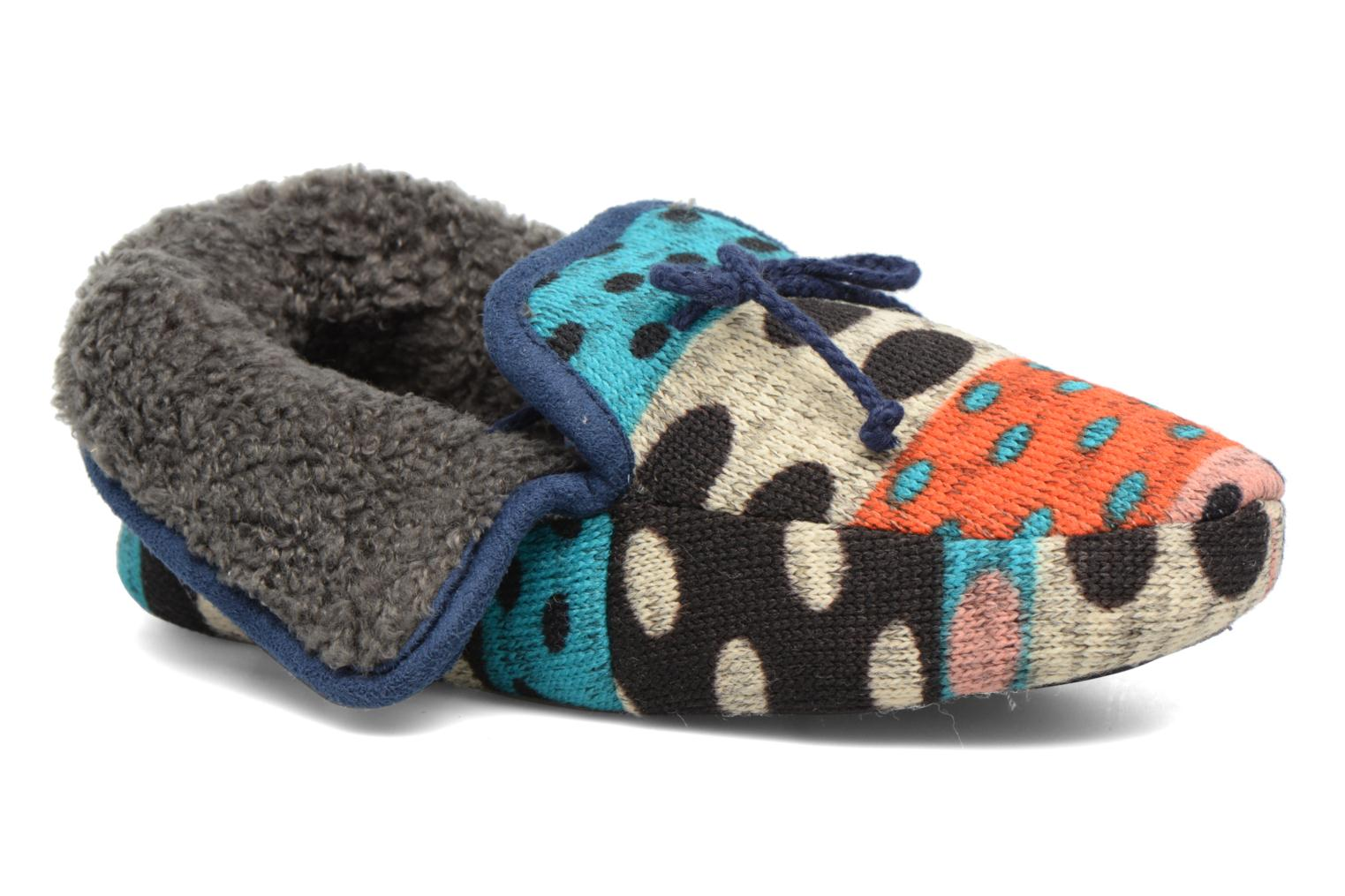 Chaussons Ruby Brown Whoopy Multicolore vue détail/paire