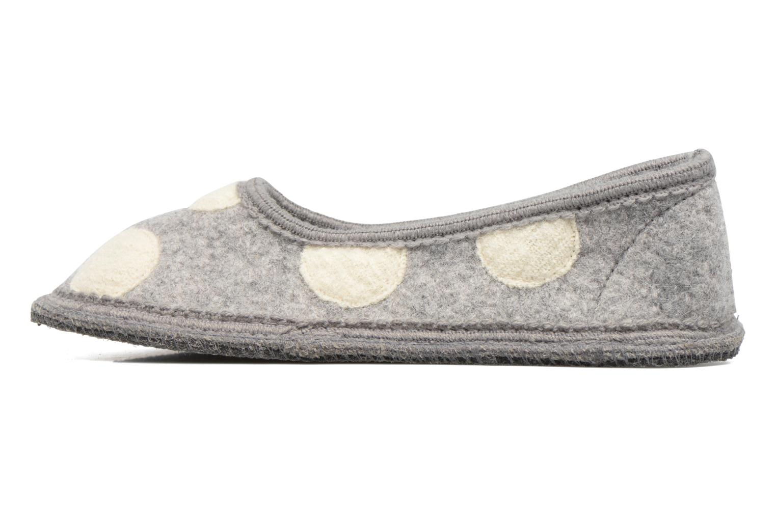 Chaussons Ruby Brown Dotty Gris vue face