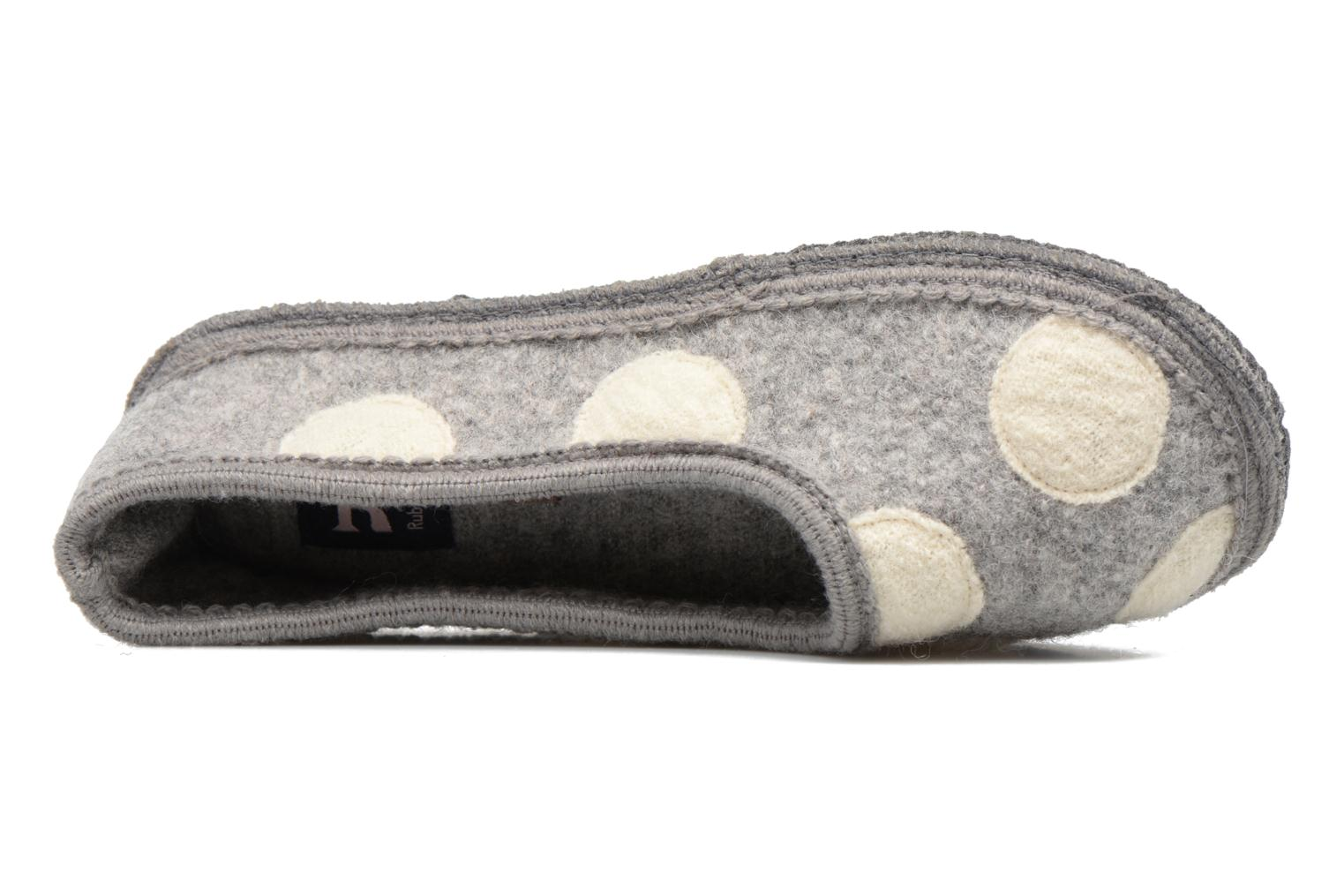 Chaussons Ruby Brown Dotty Gris vue gauche