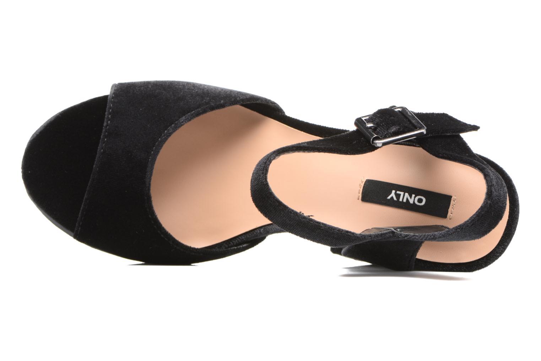 Sandales et nu-pieds ONLY Alli heeled sandal Noir vue gauche
