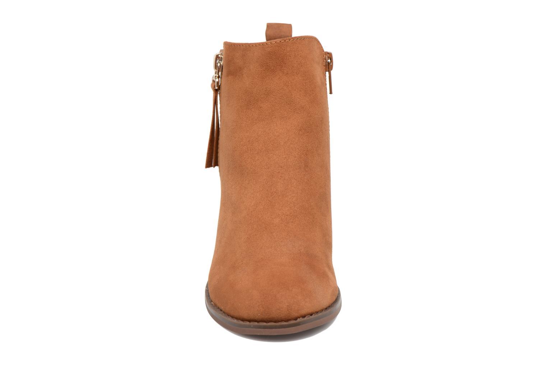 Bottines et boots ONLY Bianca zip heeled bootie Marron vue portées chaussures