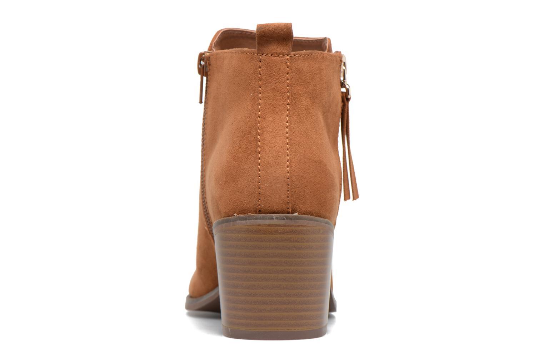 Bottines et boots ONLY Bianca zip heeled bootie Marron vue droite