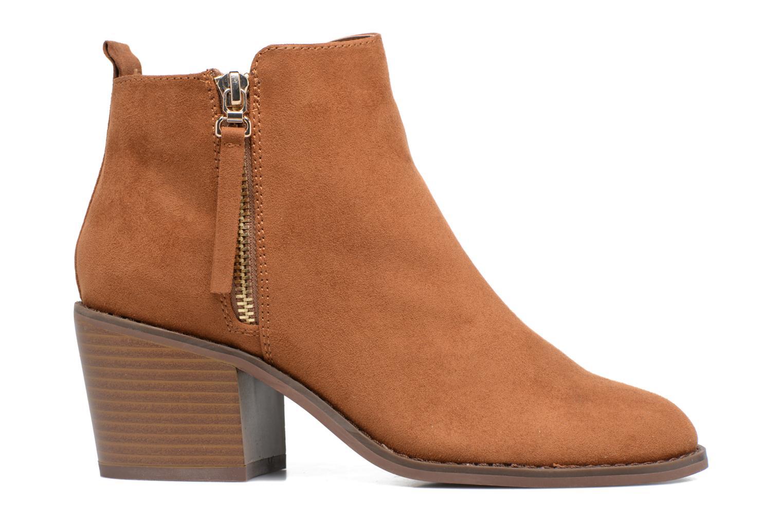 Bottines et boots ONLY Bianca zip heeled bootie Marron vue derrière