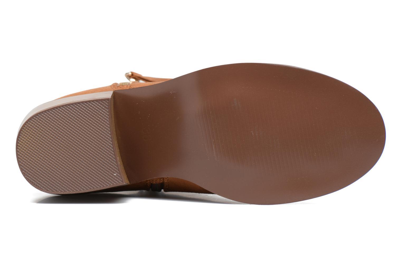 Bottines et boots ONLY Bianca zip heeled bootie Marron vue haut