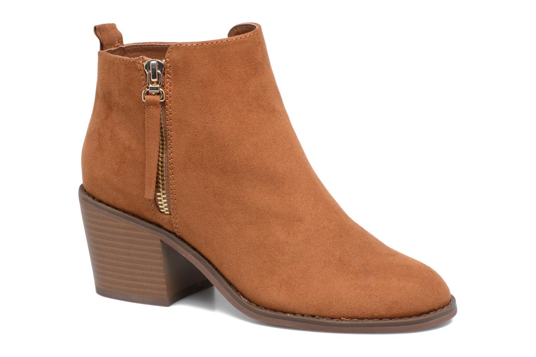 Bottines et boots ONLY Bianca zip heeled bootie Marron vue détail/paire