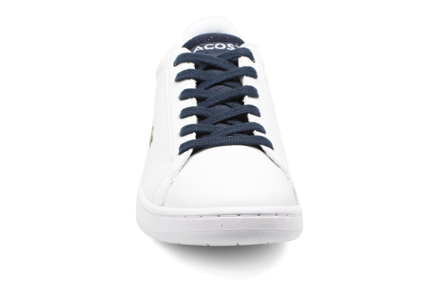 Baskets Lacoste Carnaby Evo 317 1 Spj Blanc vue portées chaussures