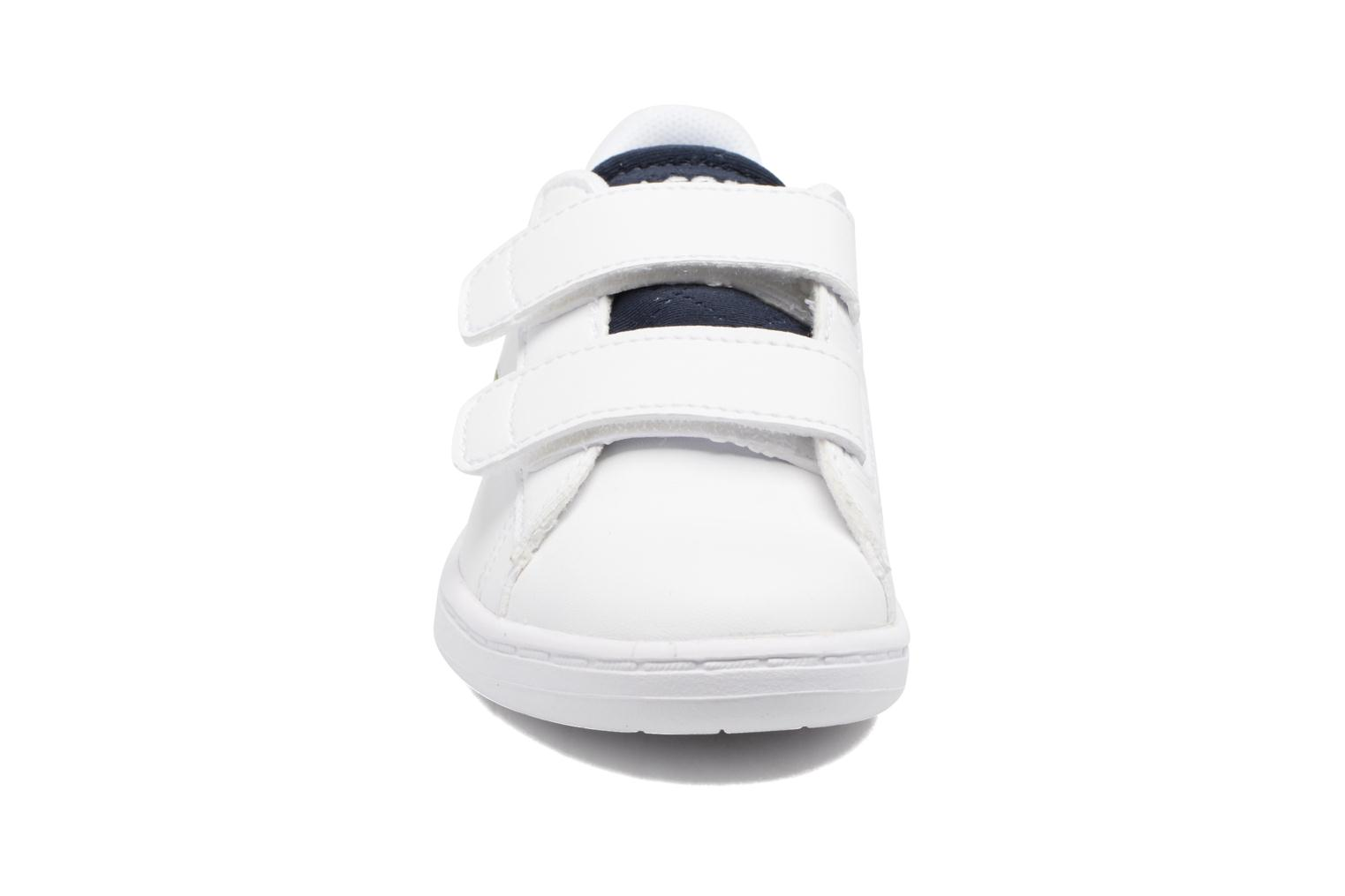 Baskets Lacoste Carnaby Evo 317 1 Spi Blanc vue portées chaussures