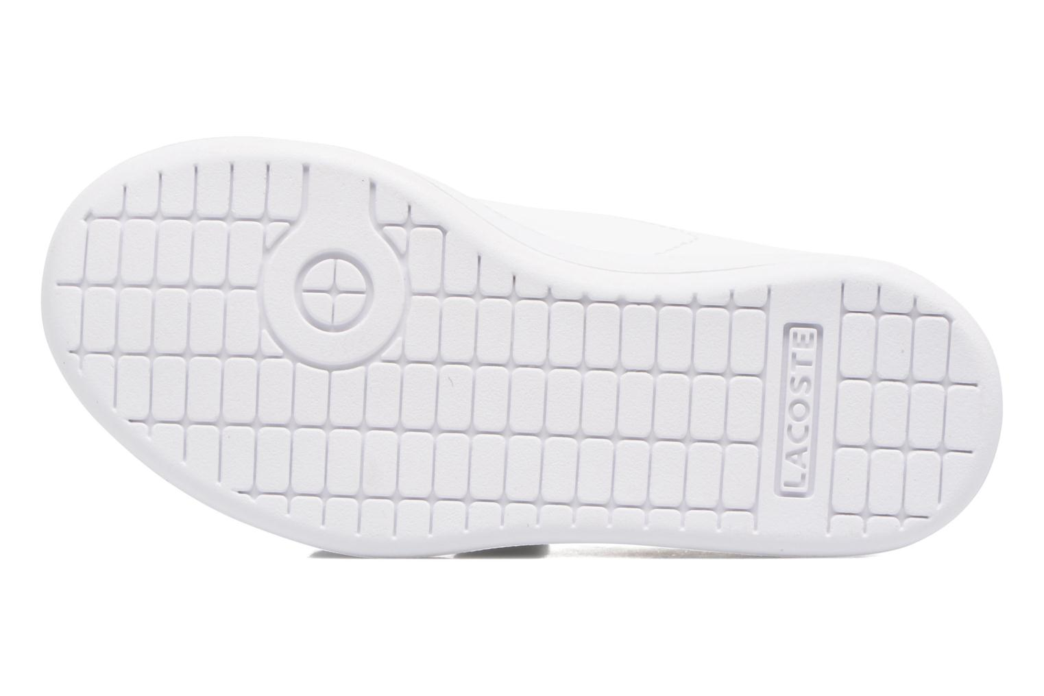 Baskets Lacoste Carnaby Evo 317 1 Spi Blanc vue haut