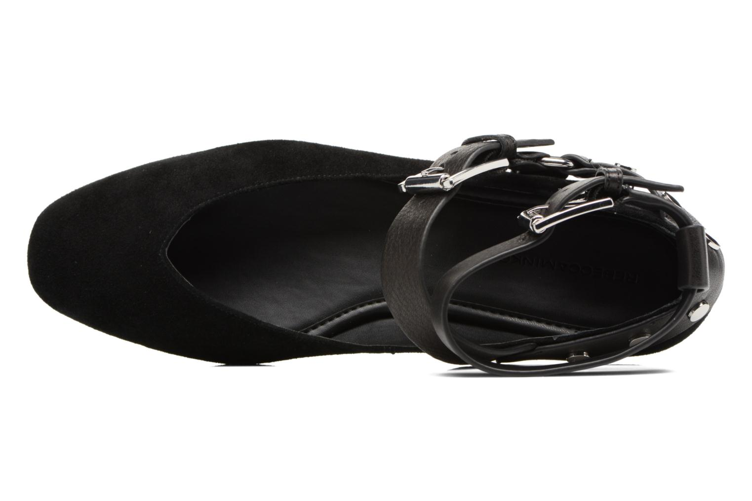 Ballet pumps Rebecca Minkoff Vivica Black view from the left