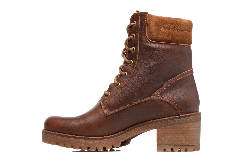 Bottines et boots Panama Jack Phoebe Marron vue face