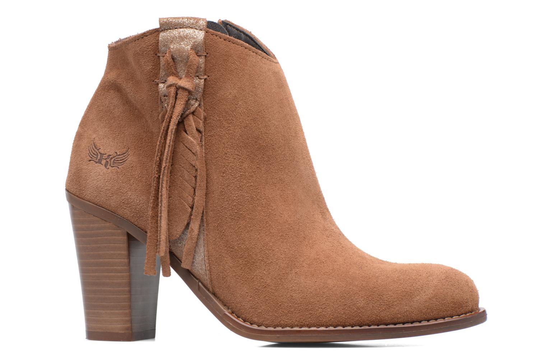 Boots en enkellaarsjes Kaporal Texane Bruin achterkant