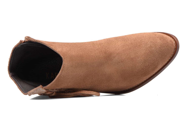 Boots en enkellaarsjes Kaporal Texane Bruin links