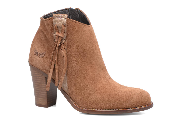 Boots en enkellaarsjes Kaporal Texane Bruin detail
