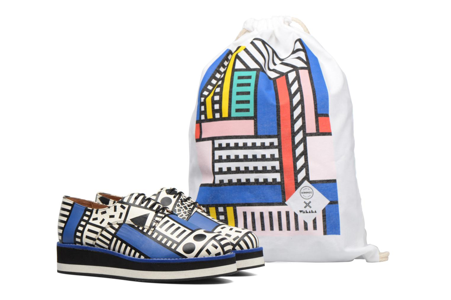 Made by Sarenza X Camille Walala Derby Print walala Blue