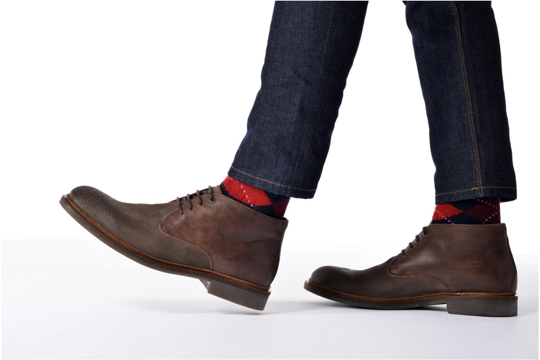 Chaussures à lacets Marvin&Co Tellington Bleu vue bas / vue portée sac